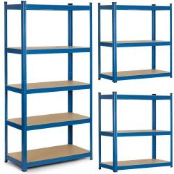 Metalowy regał magazynowy 180 x 90 x 40 cm niebieski obciążenie do 875 kg 5 półek