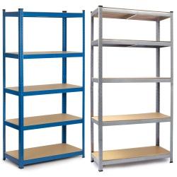 Metalowy regał magazynowy 180 x 90 x 30 cm składany do 875 kg 5 półek