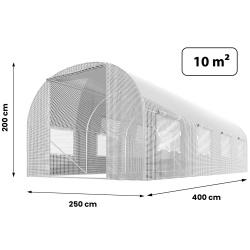 Szklarnia ogrodowa 2,5x4m (10m2) Plonos tunel foliowy z oknami