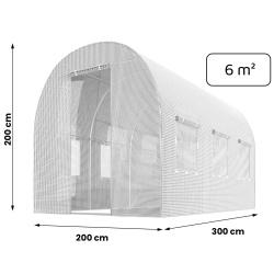 Szklarnia ogrodowa 2x3 metry 6m2 Plonos mocny tunel foliowy z oknami