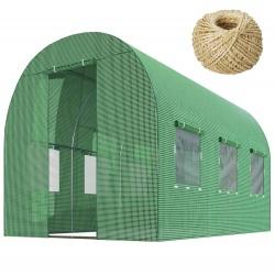 Szklarnia ogrodowa mocny tunel foliowy z oknami 2x3 metry 6m2