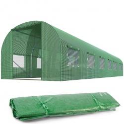 Folia zamiennik na tunel ogrodowy szklarnie 3 x 6 m z oknami 18m2