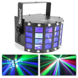 Efekt Derby LED BeamZ Butterfly dyskotekowe oświetlenie stroboskop wiązki światła
