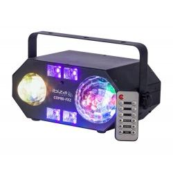 Efekt świetlny Ibiza 4-IN-1 COMBI-FX2 Astro UV waterwave oraz stroboskop