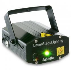 Laser zielono-czerwony BeamZ Multipoint Apollo 170mW wbudowany mikrofon