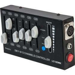 Kontroler efektów świetlnych dyskotekowych DMX Ibiza LC12DMX XLR