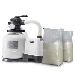 Pompa piaskowa do basenu z piaskiem 50kg filtrowanie wody 10500 l/h INTEX 26648