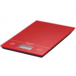 Waga kuchenna płaska LCD do 5kg co 1 gram szklana hartowana Adler AD 3138