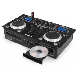 Podwójny odtwarzacz CD mikser muzyki MP3 USB Bluetooth Vonyx CDJ500