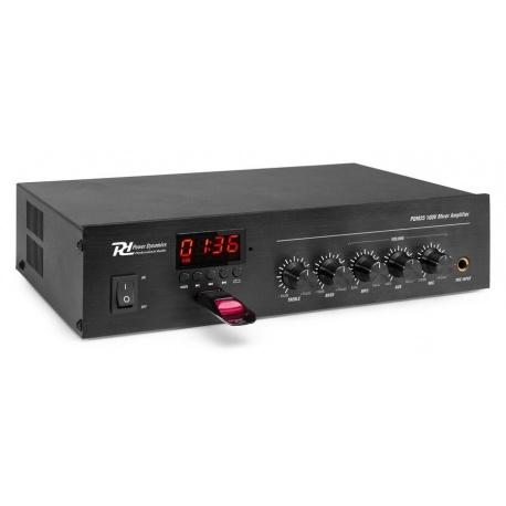 Powermixer czyli mixer ze wzmacniaczem mocy i odtwarzaczem 100V 25W PD PDM25