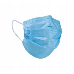 Maseczki chirurgiczne 50 sztuk maska na gumce SAFE BFE Typ II ES atest filtracja BFE 98% produkt polski kolor niebieski