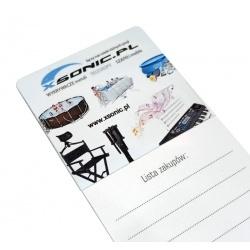 Magnes z notatnikiem na lodówkę Lista Zakupów notes firmowy Xsonic