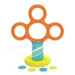 Gra dmuchana Frisbee stojak z obręczami do ogrodu dla dzieci Bestawy 52380