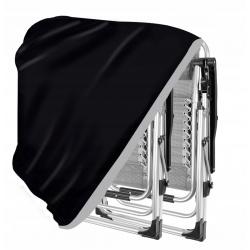 Pokrowiec na krzesło leżak czarny duży wodoodporny leżaki ogrodowe