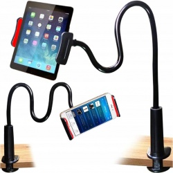 Giętki uchwyt długi elastyczny do tableta smartfona z klipsem biurkowy