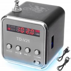 Głośnik bezprzewodowy przenośny mini z radiem FM MP3 USB SD odtwarzacz