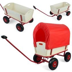 Transportowy wózek z plandeką do prac ogrodowych 100 kg ładowności