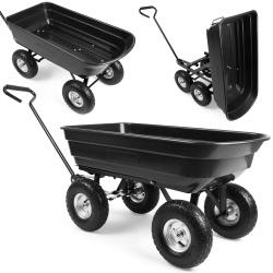 Wózek ogrodowy taczka ogrodowa do prac domowych plastikowa 75 litrów