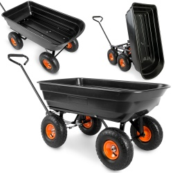Wózek ogrodowy taczka ogrodowa wywrotka do prac domowych 75 litrów