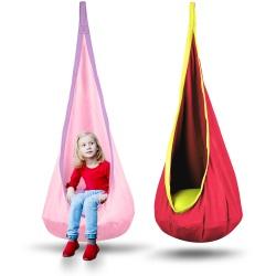 Kokon fotel wiszący dla dzieci huśtawka dziecięca do pokoju ogrodu 4 kolory