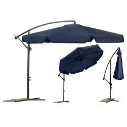 Składany parasol ogrodowy 350 cm na wysięgniku 8 segmentów stalowa rama
