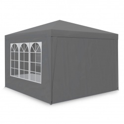 Pawilon ogrodowy namiot 3x3 metry 4 ściany z oknami zamykany szary