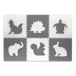 Mata piankowa do zabawy 180 x 120 cm termiczna puzzle zwierzątka ciepła podłoga