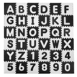 Duże puzzle piankowe dla dzieci 30x30cm 36 elementów literki i cyferki