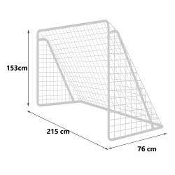 Metalowa bramka do gry 215 x 153 x 76 cm piłka nożna piłkarska kotwy