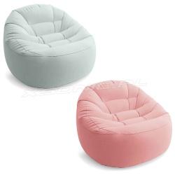 Modny i wygodny fotel dmuchany 112 x 104 x 74 cm 2 kolory Intex 68590 pufa
