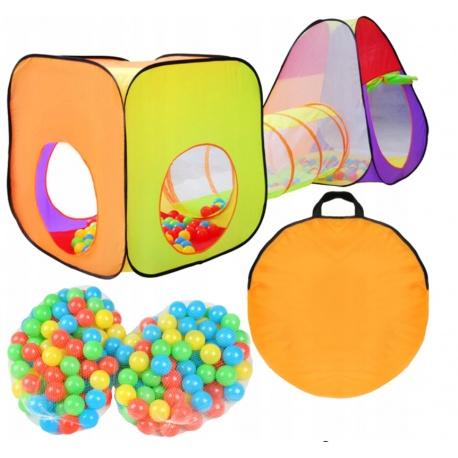 Namiot dla dzieci iglo tunel samo rozkładający domek 200 piłek w zestawie z piłeczkami torba