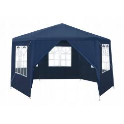 Pawilon ogrodowy namiot altana 6 ścian otwierany na suwak 4 x 4 x 2,6m