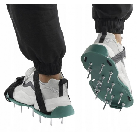 Aerator trawnikowy buty z kolcami do napowietrzania trawy na klips