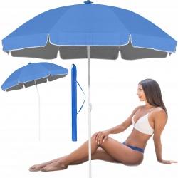 Parasol plażowy ogrodowy regulowana wysokość czaszy 190cm składany UV