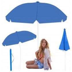 Parasol plażowy ogrodowy odbijający ciepło UV średnica czaszy 2,4m składany