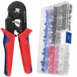 Zaciskarka do tulejek praska 0,14-10mm2 kabli końcówek zestaw tulejki