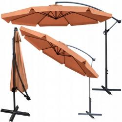 Rozkładany parasol ogrodowy o średnicy 3 metrów na wysięgniku łamany na korbkę
