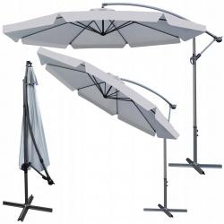 Rozkładany parasol ogrodowy XXL 350cm na wysięgniku regulowany 3 kolory