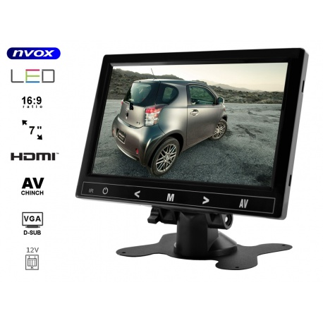 Monitor do samochodu domu na jacht z ekranem HD LCD 7 cali NVOX VGA HDMI AV-in
