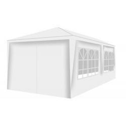 Pawilon ogrodowy 3x6m + 6 ścianek namiot handlowy szary biały granatowy