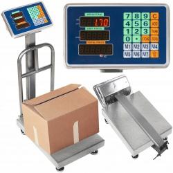 Elektroniczna waga magazynowa platformowa z podestem 150kg sklepowa LCD