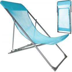 Leżak plażowy turystyczny składany fotel do opalania się krzesło turystyczne