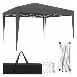 Pawilon namiot ogrodowy 3x3m handlowy składany EKSPRESOWY szary beżowy