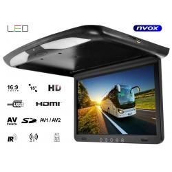 Monitor podsufitowy samochodowy 15' LED  odtwarzacz plików IR FM HDMI USB SD 12V