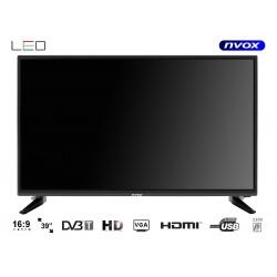 Telewizor LED ekran 39 cali HD DVB-T2/C USB 3xHDMI PVR 230V COAX