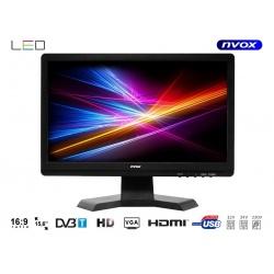 "Telewizor na jacht 15,6"" do samochodu domu LED tuner DVB-T wejście USB HDMI"