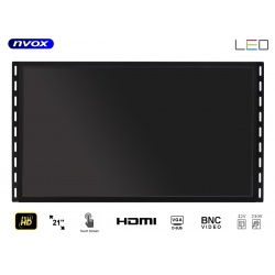 Monitor do zabudowy dotykowy OPEN FRAME 21' VGA HDMI USB BNC 12V 230V