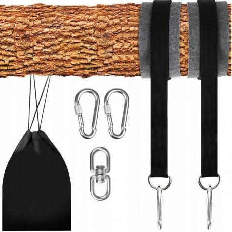 Zestaw do mocowania hamaka huśtawki uchwyt mocowanie linki nylonowe