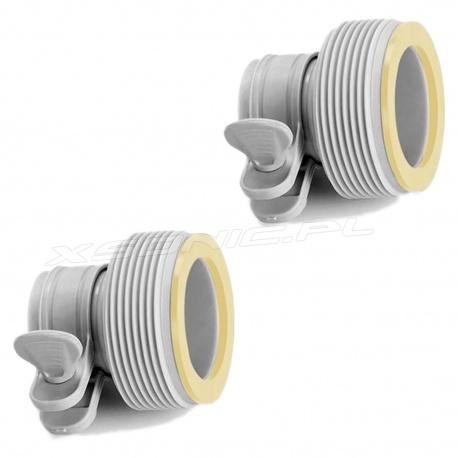 Adaptery do pompy węży powiększenie z 32mm na 38mm zaciski motylki Intex 29061