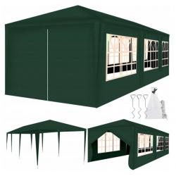 Pawilon ogrodowy namiot handlowy 3 x 9 metra + 8 ścianek i 3 duże okna